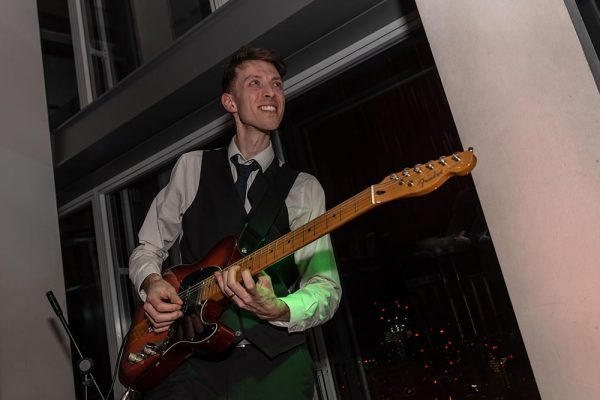 4 piece party band london electric guitar the shard
